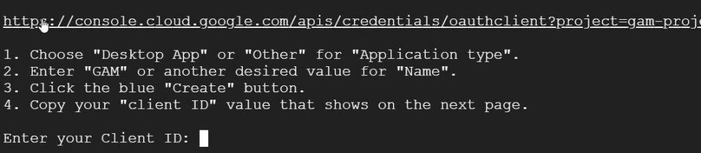 Go to URL to create the desktop app