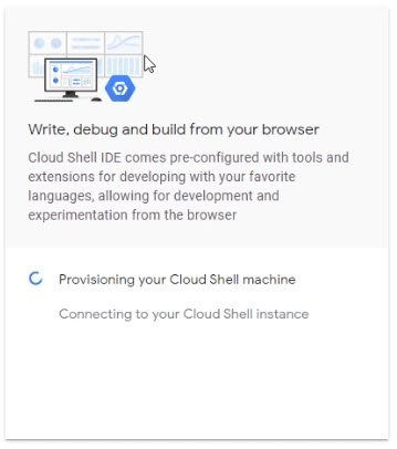 Wait for the Google Cloud Shell Provisioning