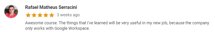 Google Workspace Course Rating