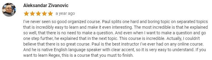 regex course 2021